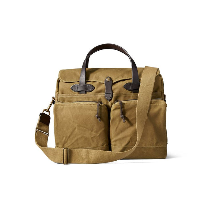 Filson 24 Hour Tin Briefcase - Dark Tan