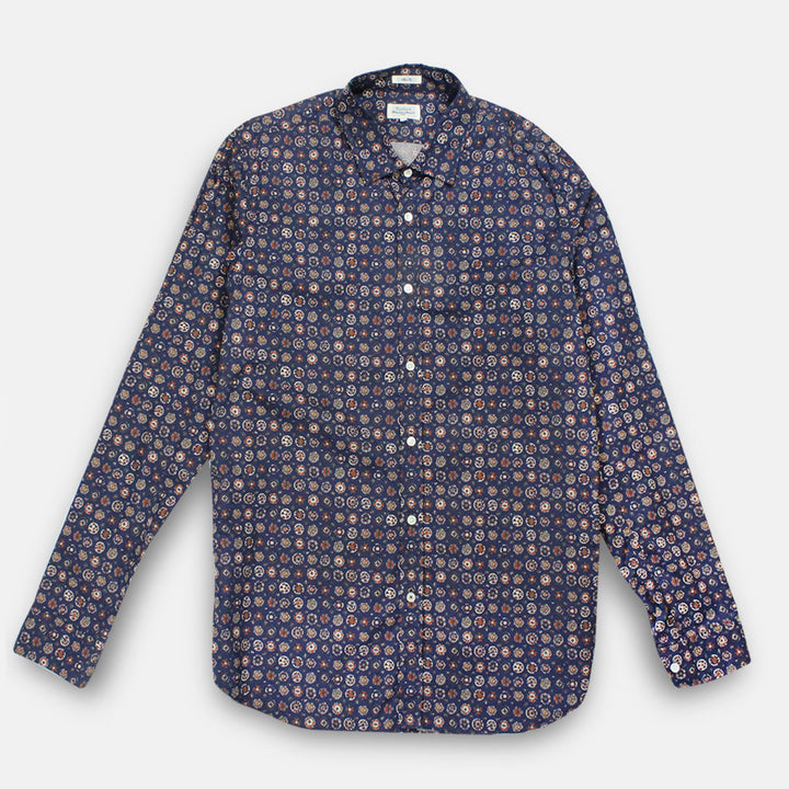 Hartford Sammy Shirt - Navy Print