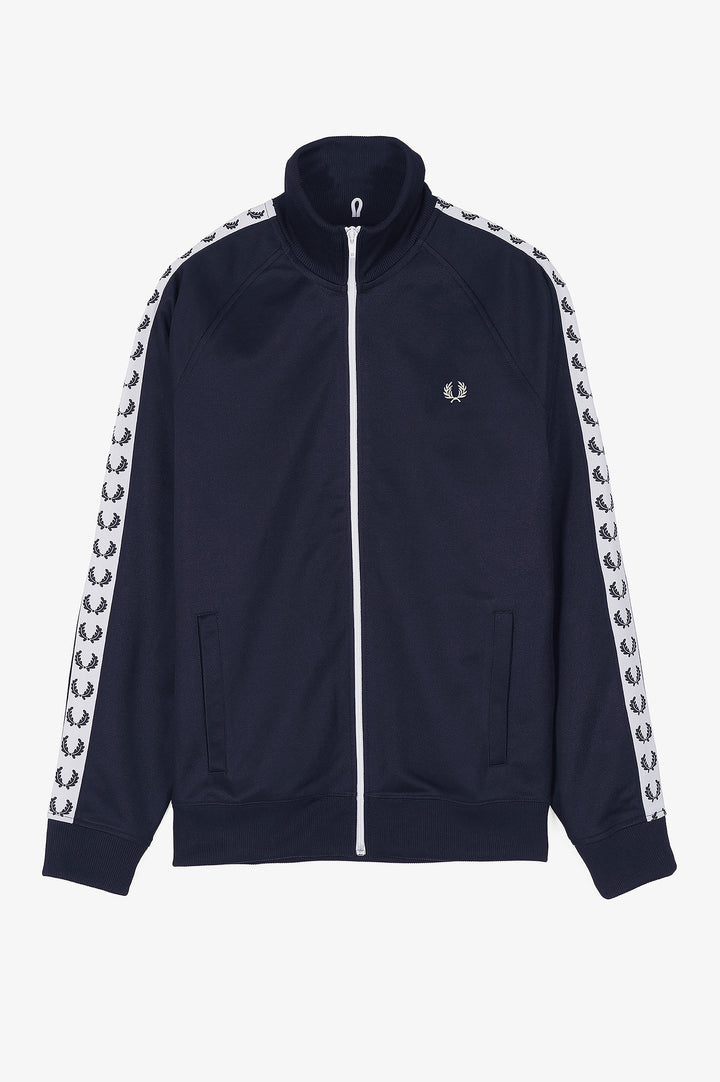 Fred Perry Sports Authentic Taped Track Jacket - Carbon Blue