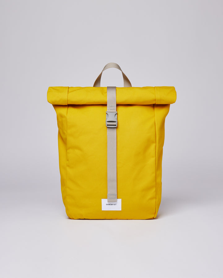 Sandqvist Kaj Bag - Yellow with Grey Webbing