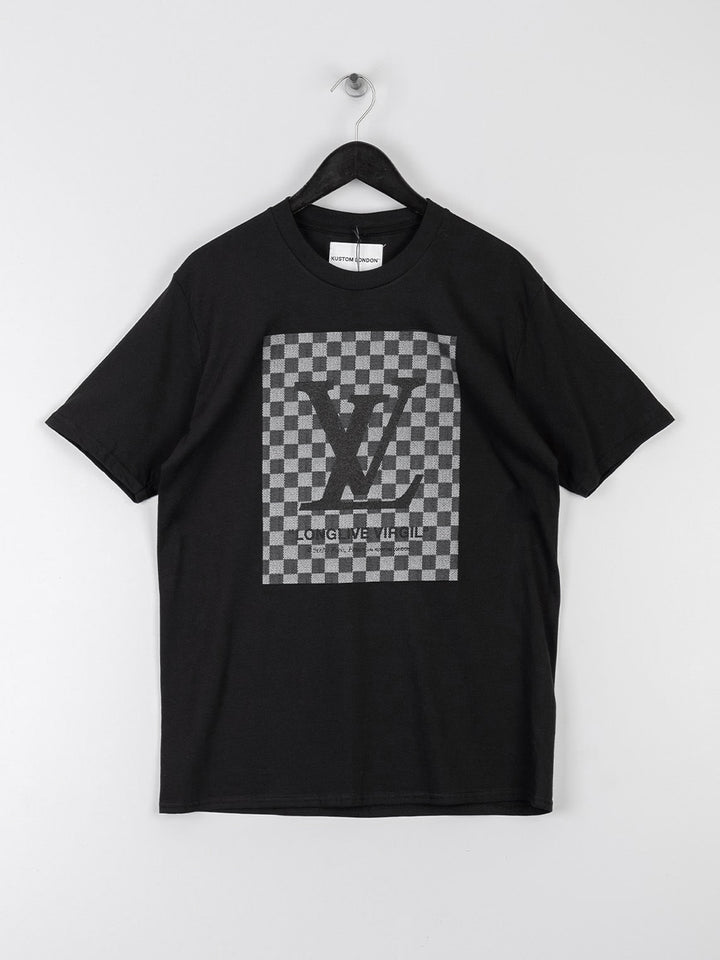 Kustom London LV Check T-Shirt - Black