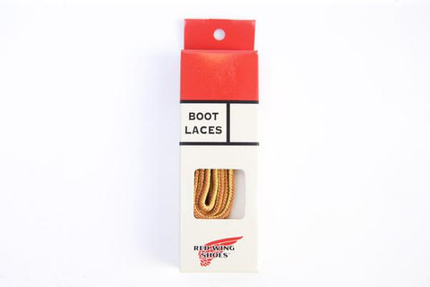 Red Wing Boot Laces 48 Inch - Tan & Gold