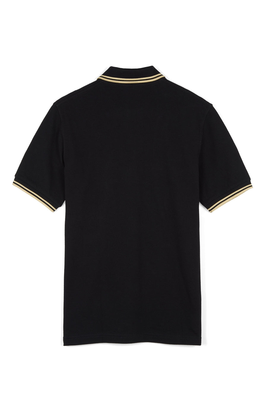 Fred Perry Twin Tipped M12 Polo Shirt - Black/Champagne