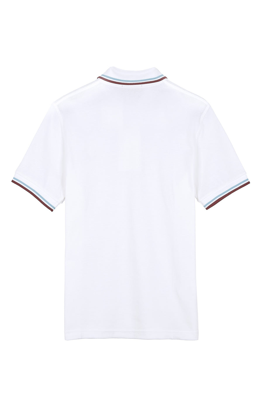 Fred Perry Twin Tipped M12 Polo Shirt - White/Ice/Maroon