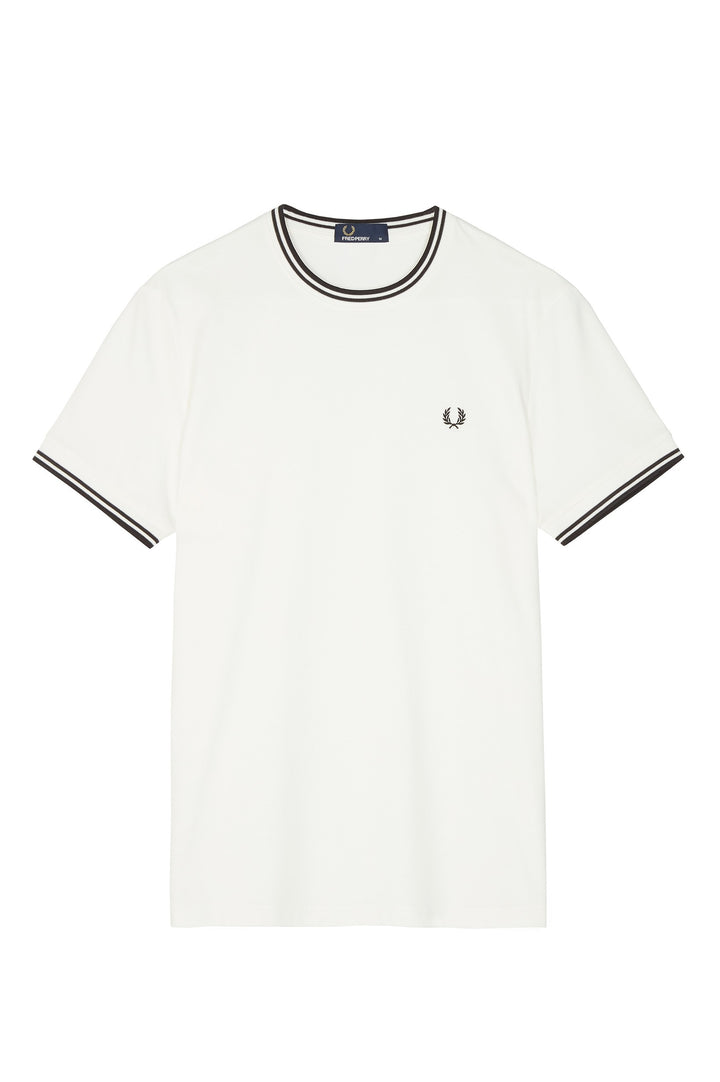 Fred Perry Twin Tipped T-Shirt - Snow White