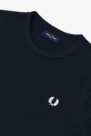 Fred Perry Ringer T-Shirt - Navy