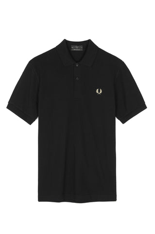 Fred Perry Reissues M3 Fred Perry Polo Shirt - Black/Champagne