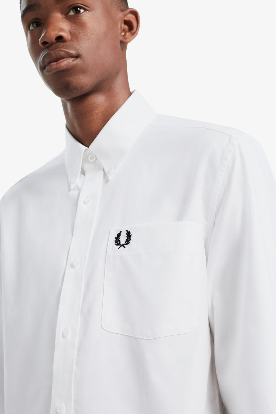 Fred Perry Oxford Shirt - White