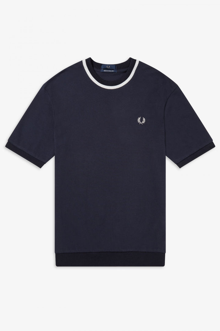 Fred Perry Reissues Crew Neck Pique T-Shirt - Navy
