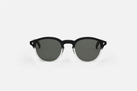 Monokel Eyewear Nelson Black/Crystal ECO - Solid Green Lens