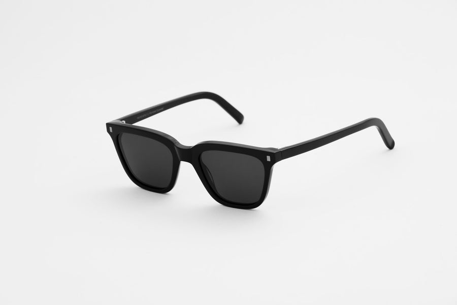 Monokel Eyewear Robotnik Black Sunglasses - Solid Grey Lens