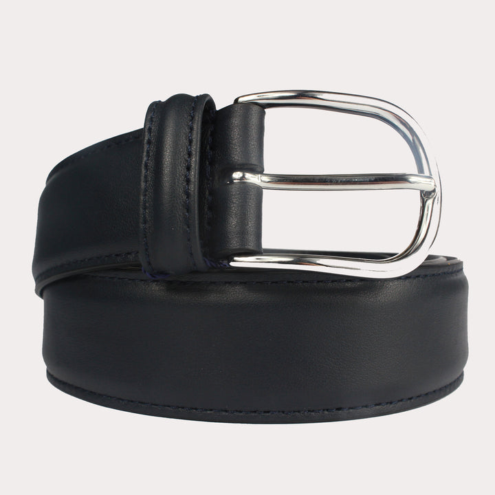 Andersons Leather Belt - Navy Smooth