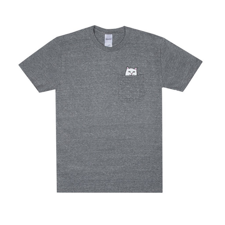 Rip n Dip Lord Nermal Pocket T-Shirt - Heather Grey