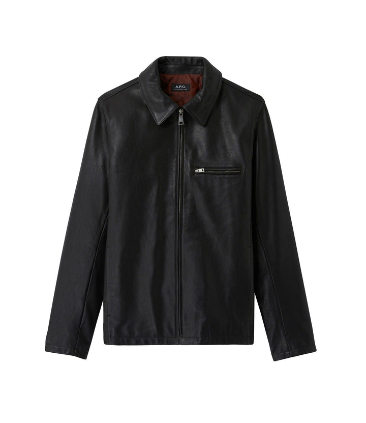 A.P.C. No Fun Jacket - Black Leather