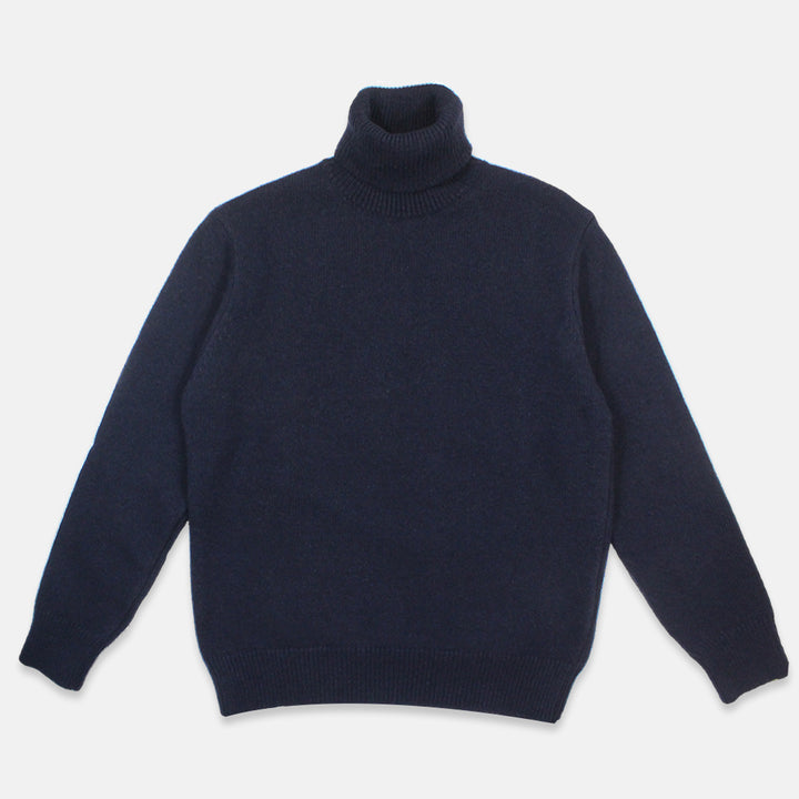 Universal Works Roll Neck Sweater - Navy