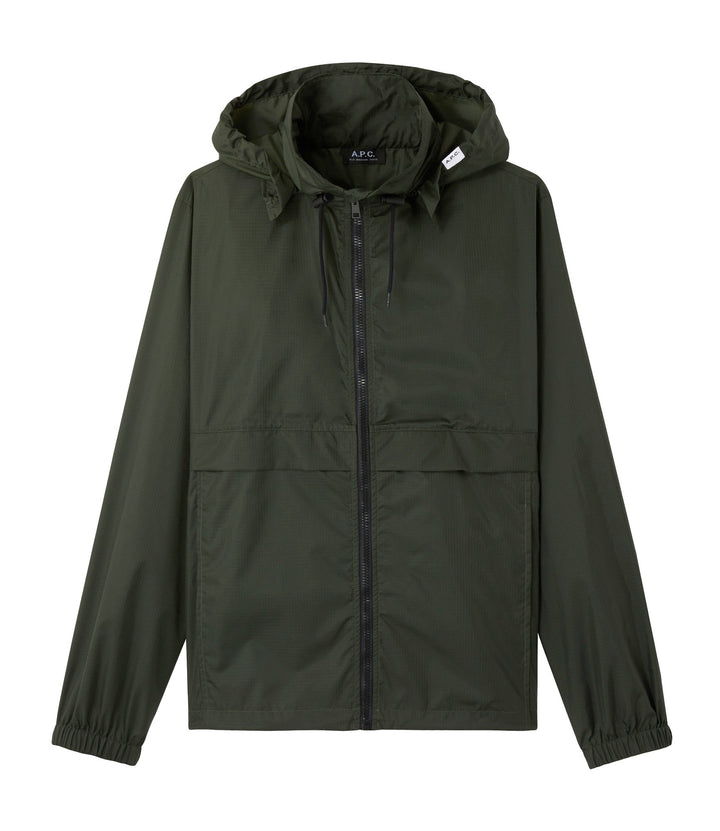 A.P.C. Coupe Vent Miles Windbreaker Jacket - Evergreen (Vert Sapin)
