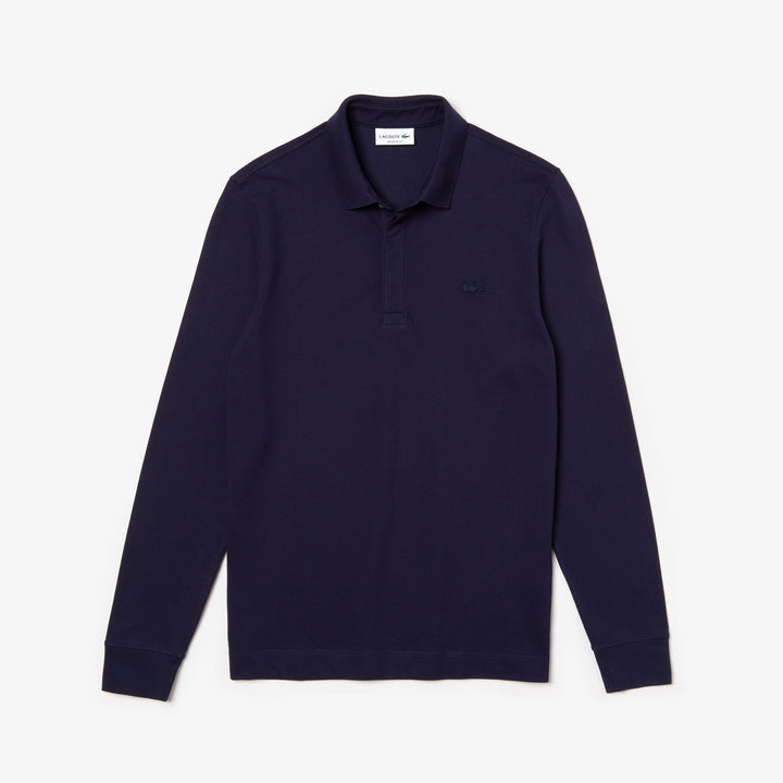 Lacoste Long Sleeve Polo Shirt - Navy Blue