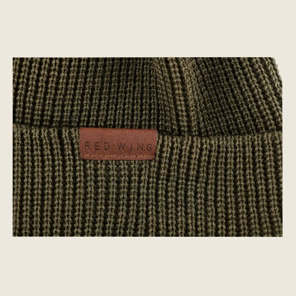 Red Wing Beanie Hat - Olive