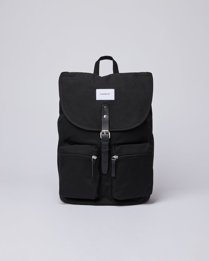 Sandqvist Roald Bag - Black with Black Leather