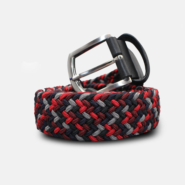 Andersons Woven Textile Belt - Black & Red