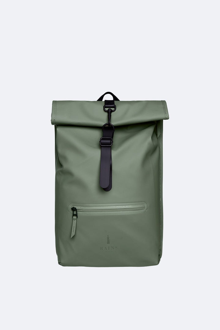 Rains Roll Top Rucksack - Olive