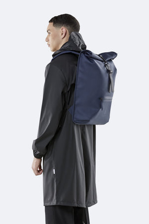 Rains Roll Top Rucksack - Blue