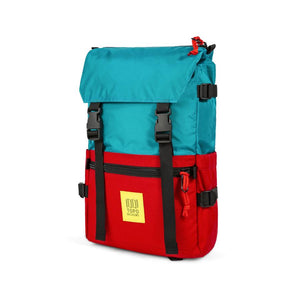 Topo Designs Rover Pack - Turquoise/Red