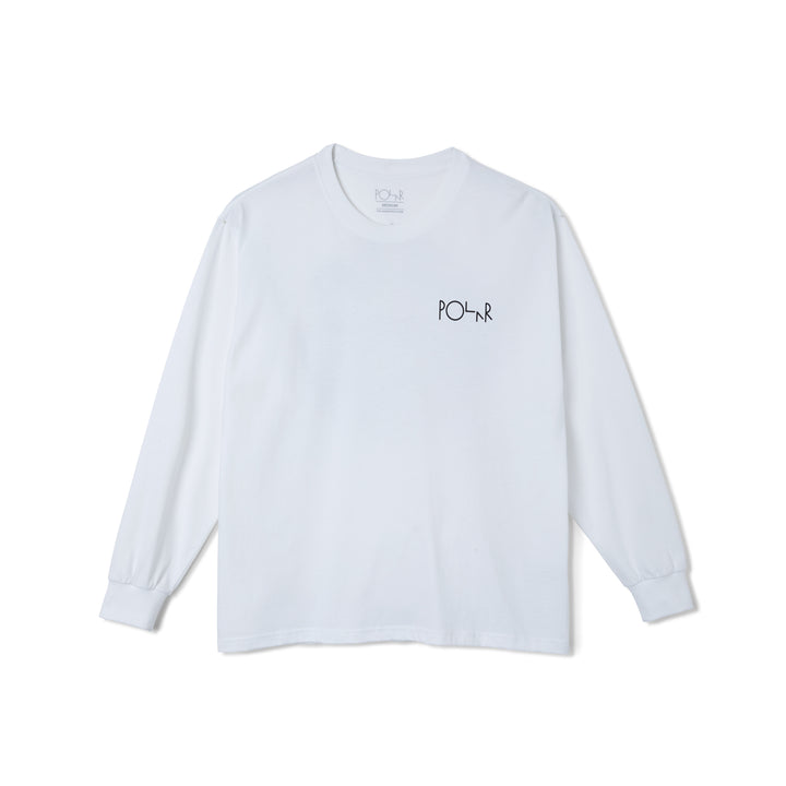 Polar Skate Co. Sequence Fill Logo L/S T-Shirt - White