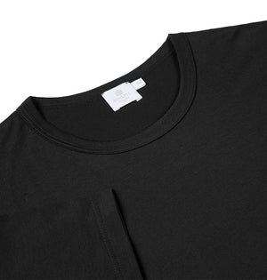 Sunspel Q8 Short Sleeve Crew Neck T-Shirt - Black