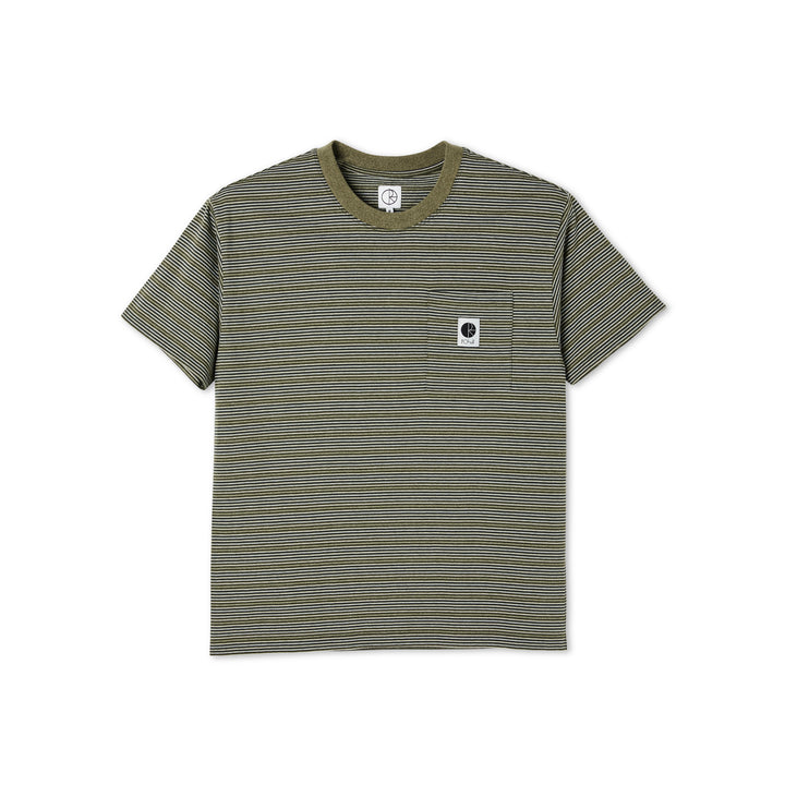 Polar Skate Co. Stripe Pocket T-Shirt - Army Green
