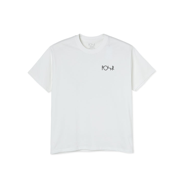 Polar Skate Co. Stroke Logo T-Shirt - White