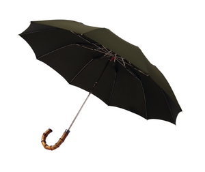 London Undercover Umbrella - Olive Whangee Telescopic