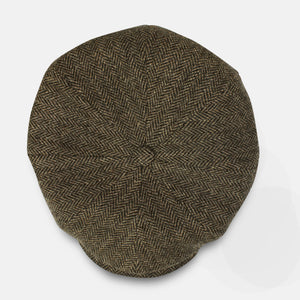 Stetson Cap - Hatteras Wool Herringbone - Brown