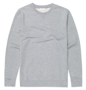 Sunspel Sweat Top - Grey Melange