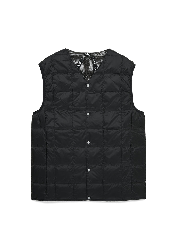 Taion V Neck Button Vest - Black