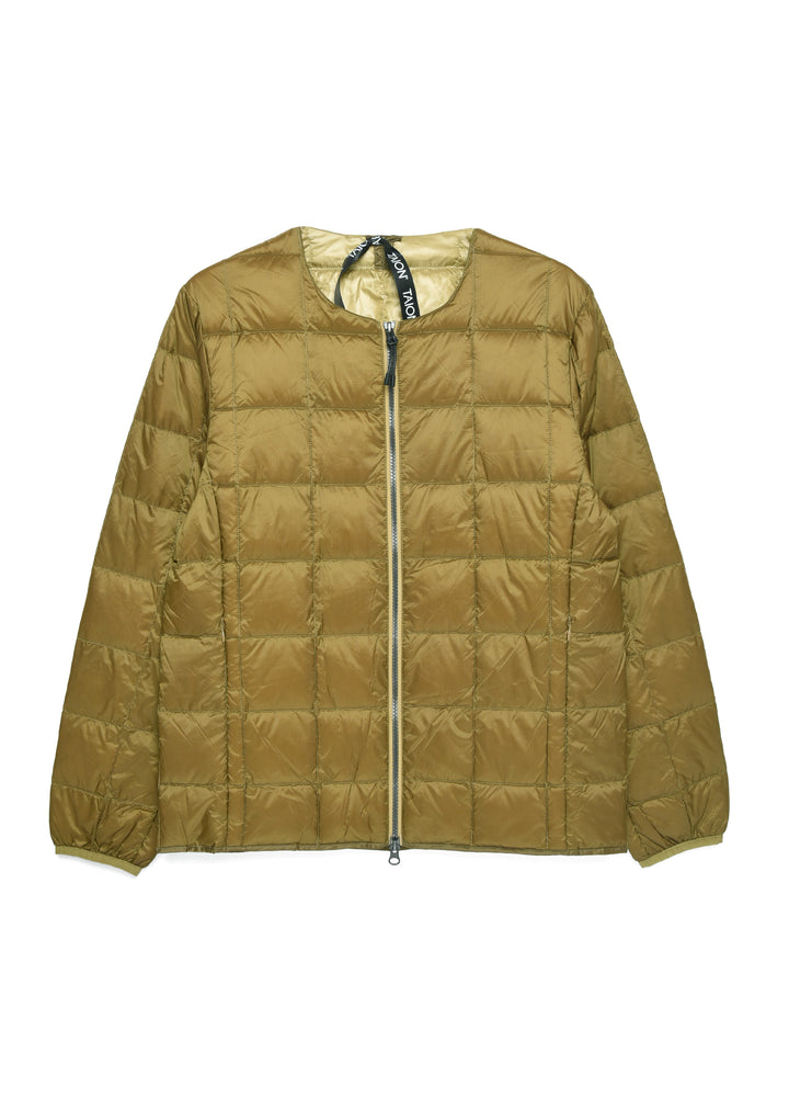 Taion Crew Neck Zip Down Jacket - Beige