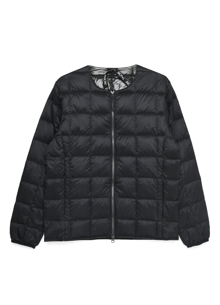 Taion Crew Neck Zip Down Jacket - Black