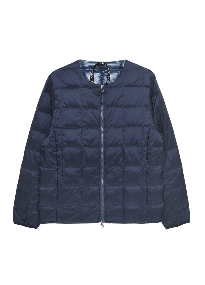 Taion Crew Neck Zip Down Jacket - Navy