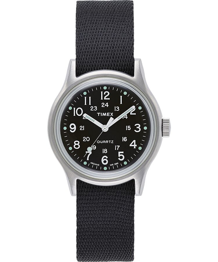 Timex MK1 36MM Military Inspired Gosgrain Strap Watch - Stainless Steel Case