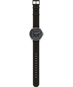 Timex Archive Navi World Time 38mm Fabric Strap Watch - Black