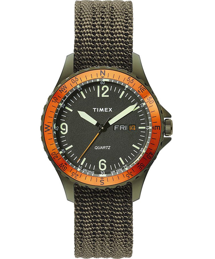 Timex Navi Land Watch - Green Case/Dark Green Dial