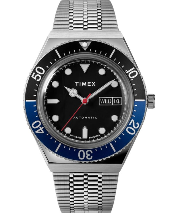 Timex M79 Automatic 40mm Stainless Steel Bracelet Watch - Stainless Steel/Black