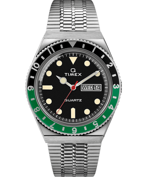 Timex Archive Q Reissue Black/Green Diver Inspired 38mm Stainless Steel Bracelet Watch