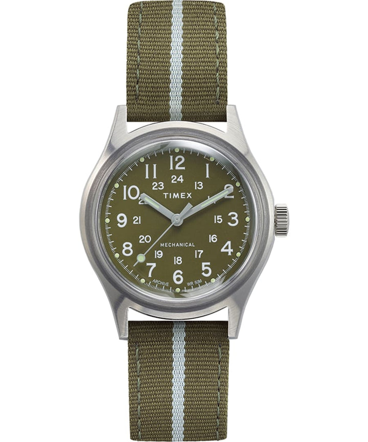 Timex MK1 Mechanical 36mm Fabric Strap Watch - Green Dial