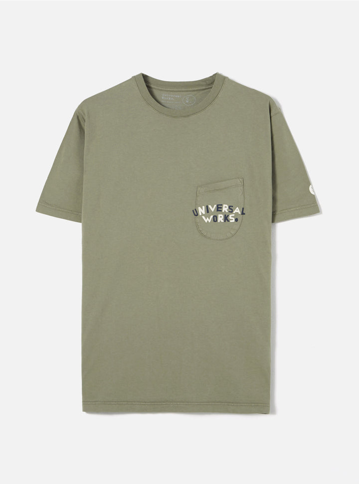 Universal Works Organic Print Pocket T-Shirt - Tea