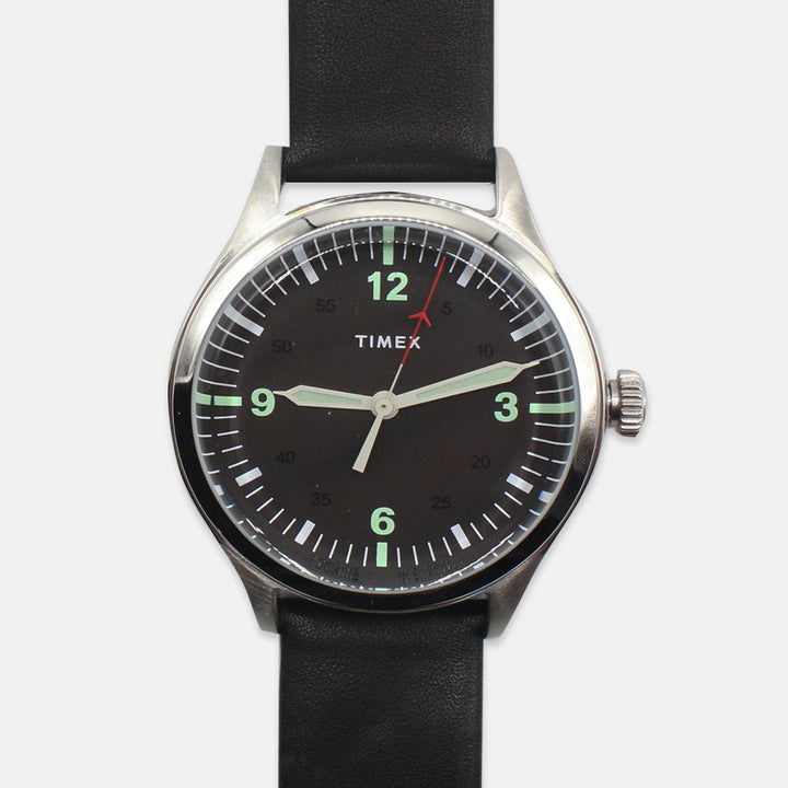 Timex Waterbury United Watch - Steel Case, Black Dial