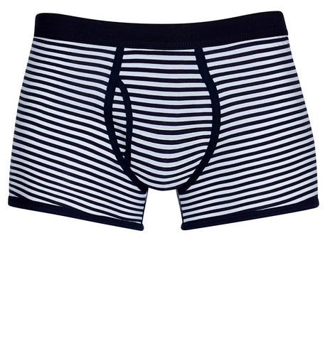 Sunspel Q82 Low Waist Trunk White/Navy