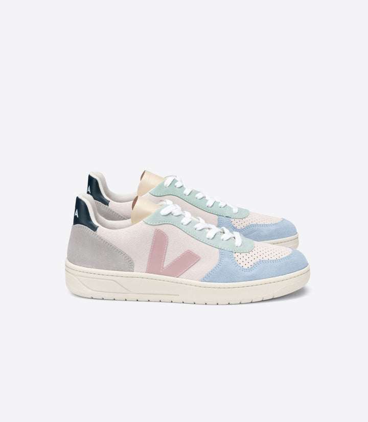 Veja Women V-10 Trainer - Suede Multico/Natural/Babe
