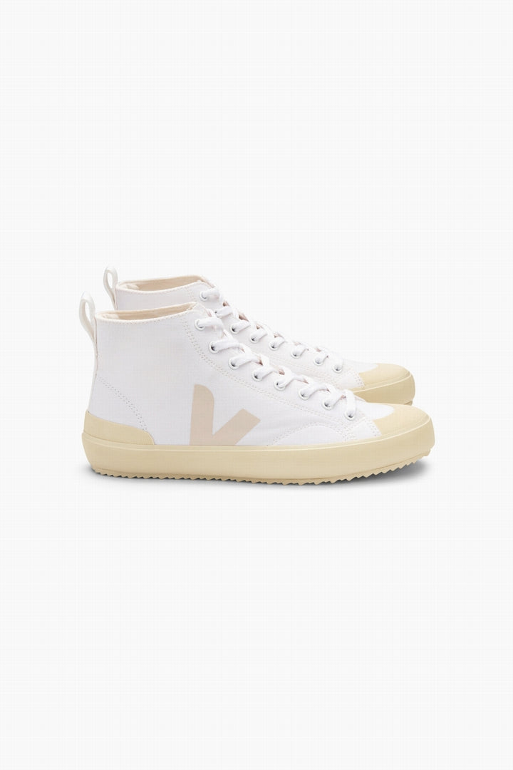 Veja Nova High Top Canvas Trainer - White, Butter Sole