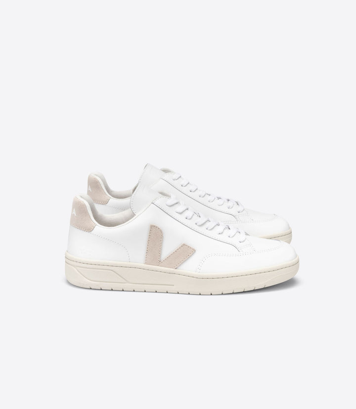 Veja Women V-12 Trainers - Extra White/Sable